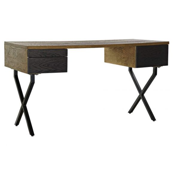 Íróasztal fém cserfa 140x60x76