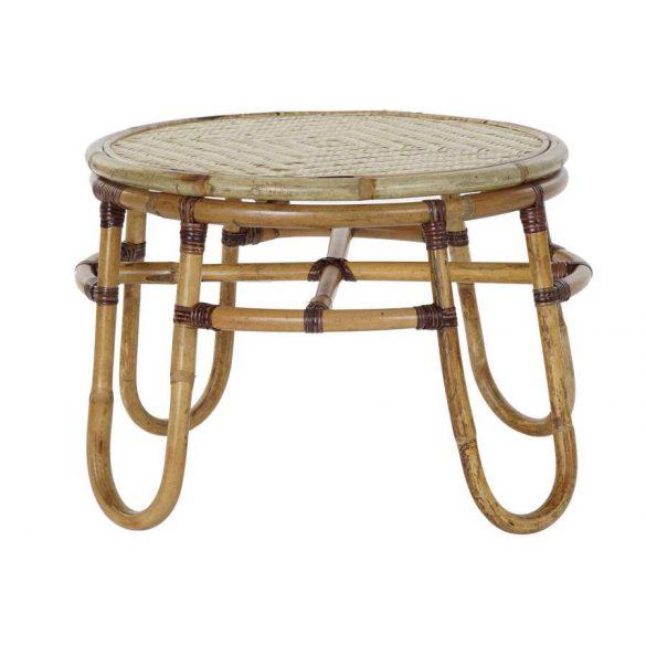 Asztal telefonos rattan bambusz 55x55x40 természetes