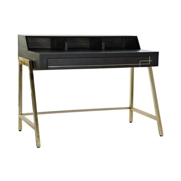 Íróasztal fa fém 125x69x93 barna sötét