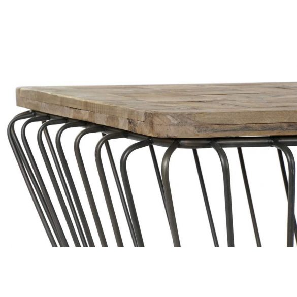 Asztal kávé-s fenyő fém 125x65x60