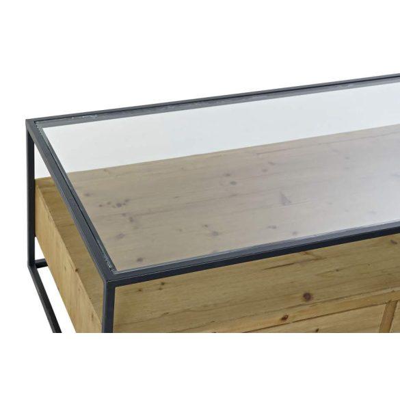 Asztal kávé-s fenyő üveg 120x60x40