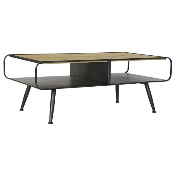 Asztal kávé-s fenyő fém 120x60x45