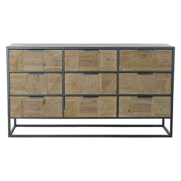 Bútor fenyő fém 123x38x68