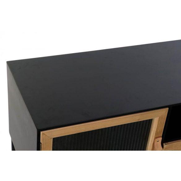 Szekrény tv-s fa fém 140x40x50