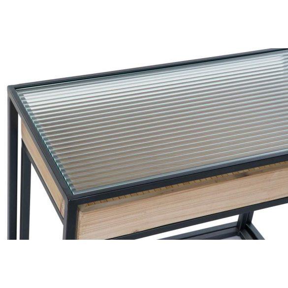 Asztal telefonos szett 2db-os fém üveg 6x32x50