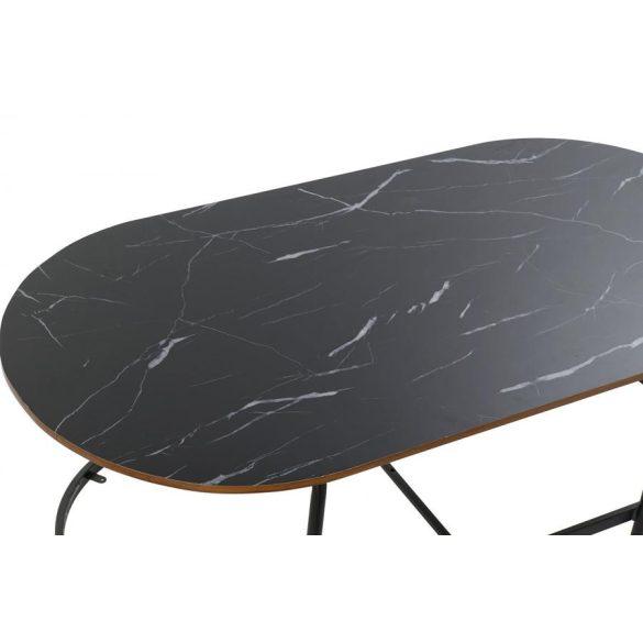 Asztal kávé-s vas 99,5x50x49,5 fekete