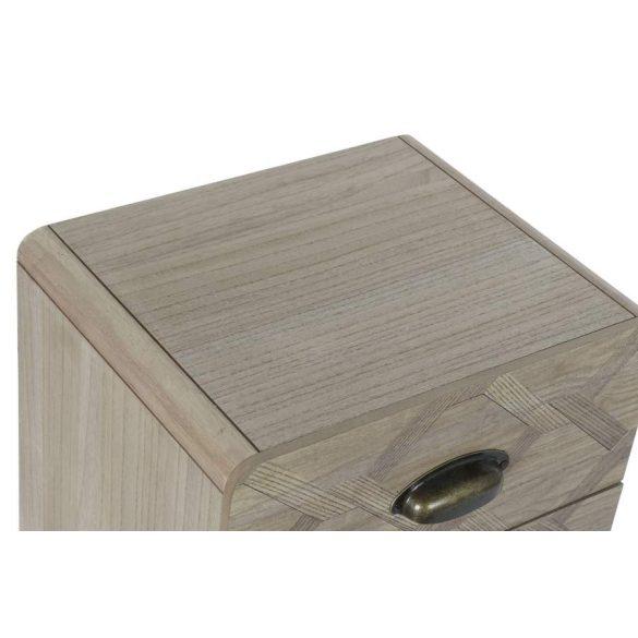 Éjjeli szekrény mdf 37x30x67 3 fiókok természetes