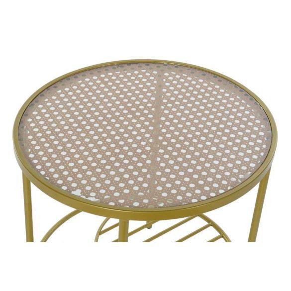 Asztal telefonos vas üveg 49,5x49,5x49,5