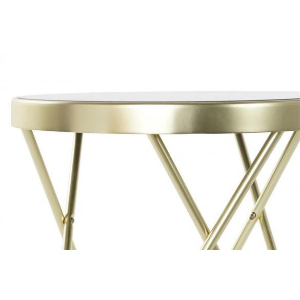 Asztal telefonos acél üveg 42x42x46