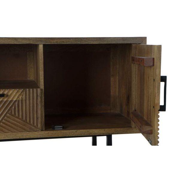 Bútor tv-s mango fém 125x40x55