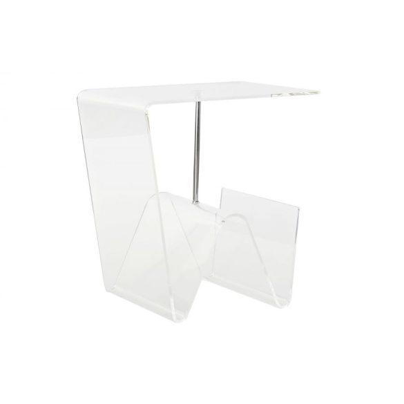 Asztal akril 40x30x44 újságtartó átlátszó