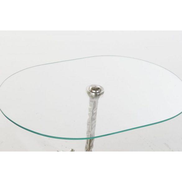 Asztal telefonos aluminium üveg 54x39x57 ló