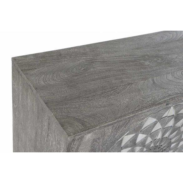Bútor mango fém 81x38x81 mandala szürke