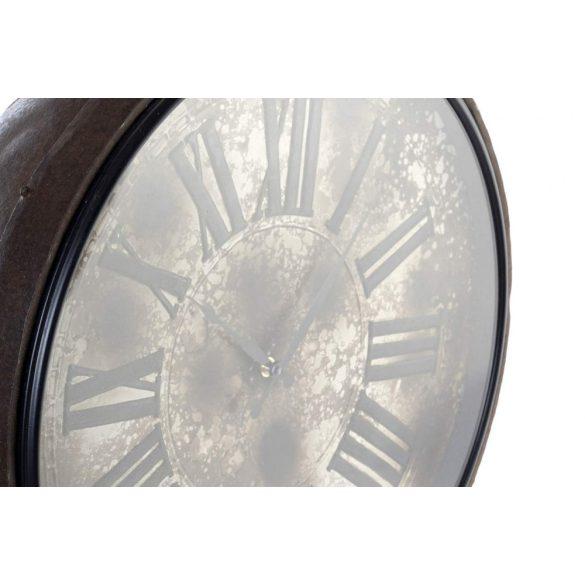 RE-170327 - Óra falra vas üveg 42x23x63 régies