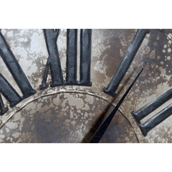 Óra falra vas üveg 42x23x63 régies